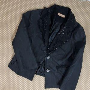 Girls Black denim jacket